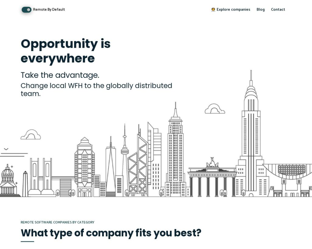 Remote By Default - opportunity is everywhere